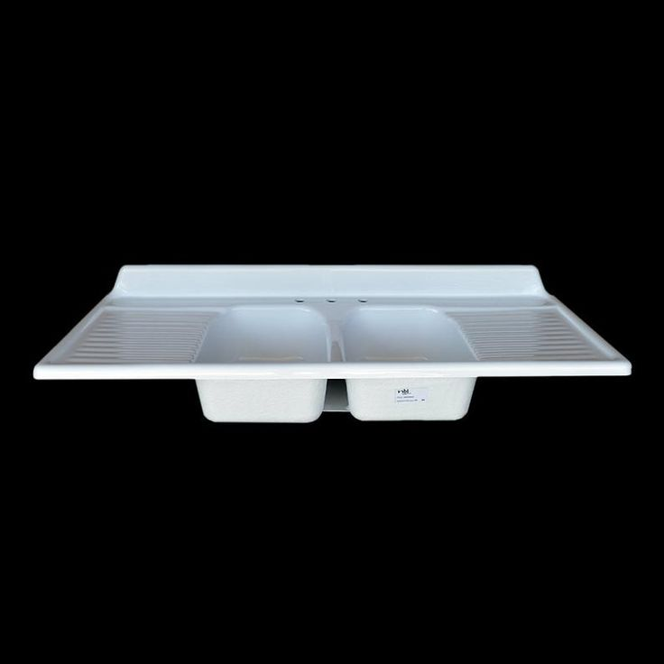 60 x 25 double bowl double drainboard farmhouse sink