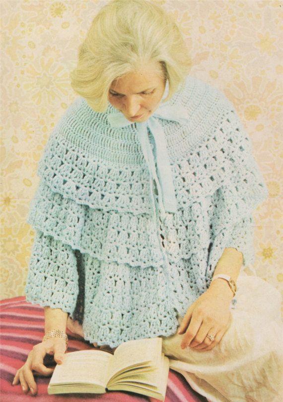Mejores 410 imágenes de crochet - shawls en Pinterest | Agujas de ...