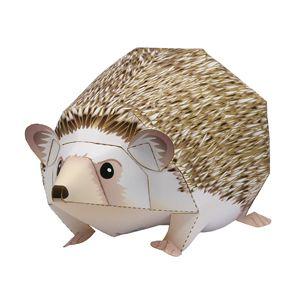 Four-toed Hedgehog by Ayumo Saito via Canon Creative Park: Free papercraft PDF.