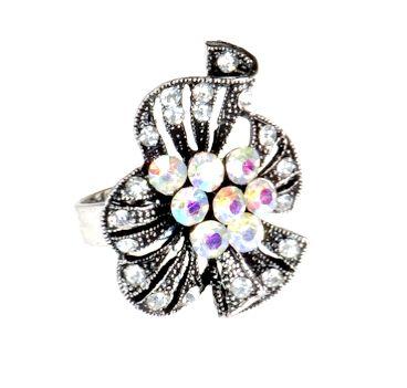 Pierścionek Vintage z Kryształkami Crystal AB #ring #vintage #pierscionek