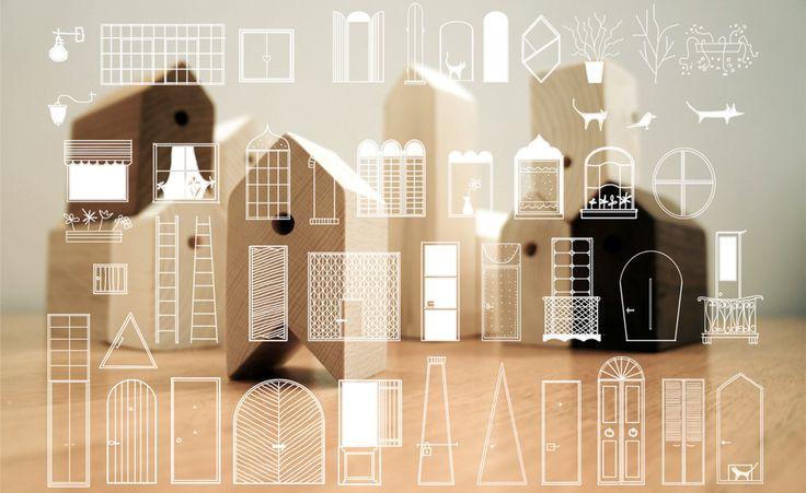 SYAA   11Houses www.syaa.ro #design #game #wood #kids #children #houses