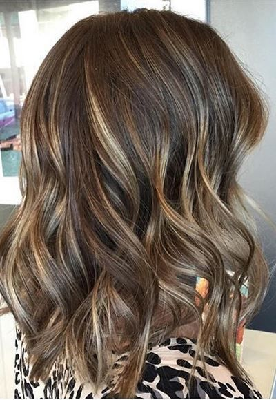 Brunette with more than one lighter shade melted in - always a good idea. Color by Kristie Sibson.