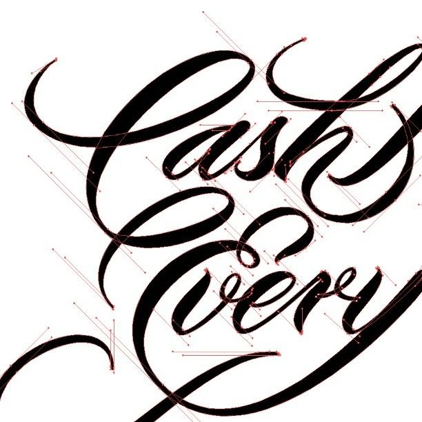 "Hand lettering ""Cash every..."" by Neil Secretario"