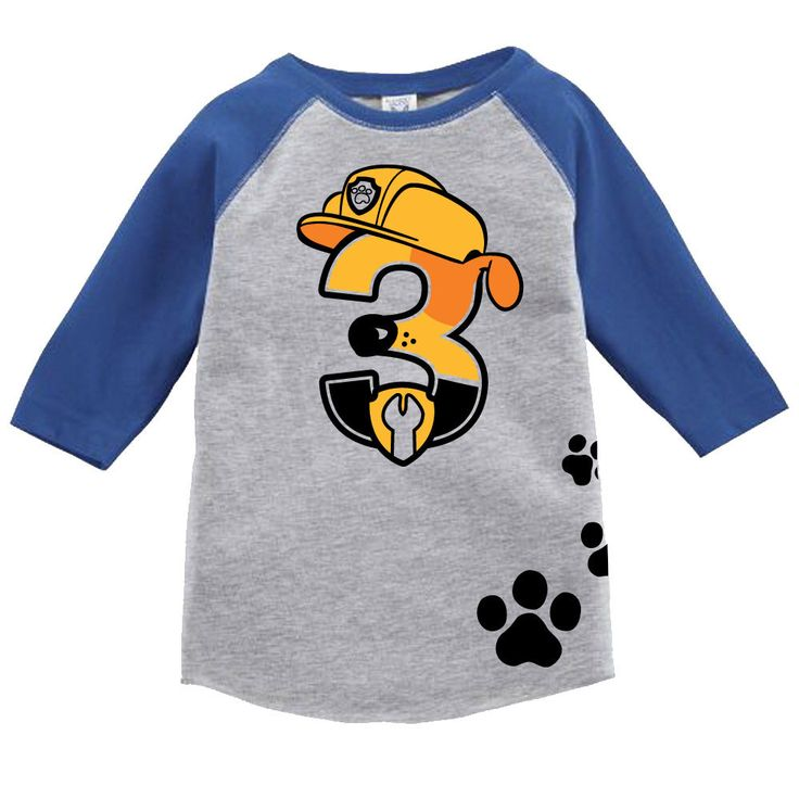 Custom PAW PATROL birthday shirt RUBBLE Inspired Birthday number Shirt with Name on Back Birthday Shirt by ShirtTraveler on Etsy https://www.etsy.com/listing/504105031/custom-paw-patrol-birthday-shirt-rubble