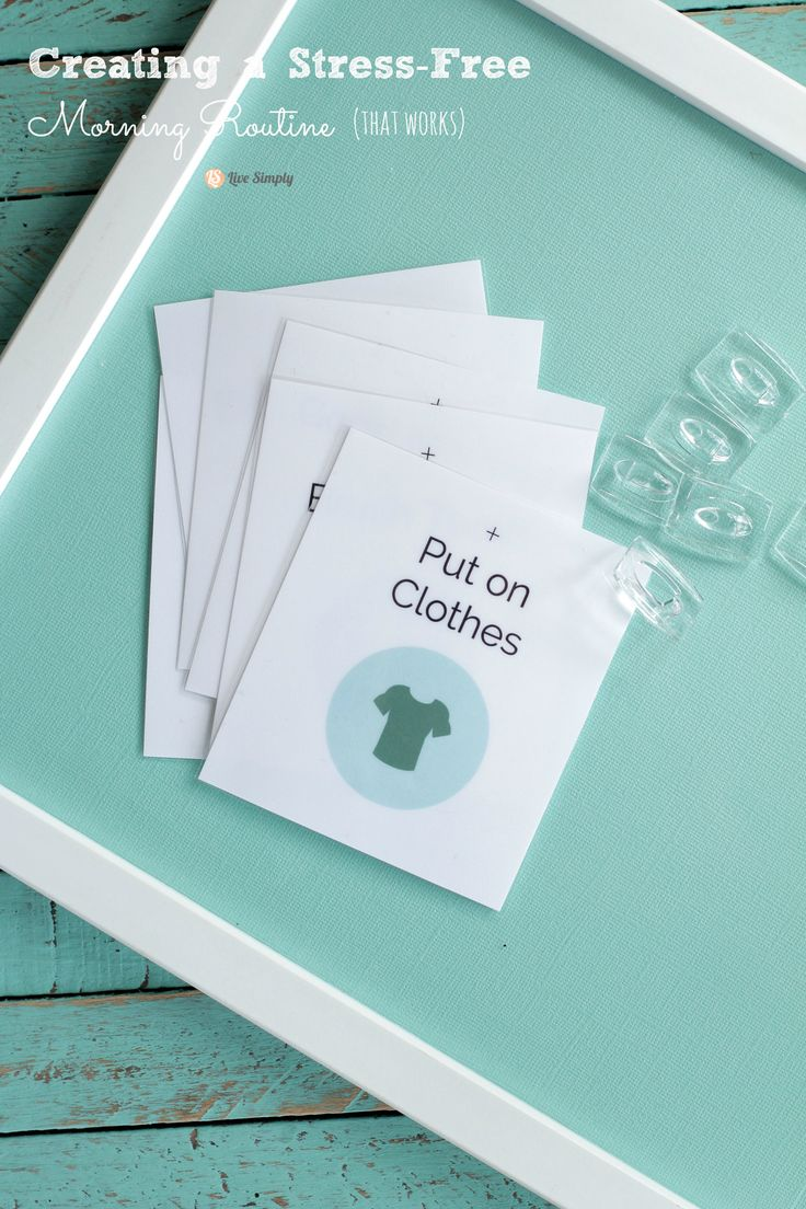 LOVE THIS IDEA!! And printable cards too. Creating a Stress-Free Morning Routine + A Free Printable | Live Simply