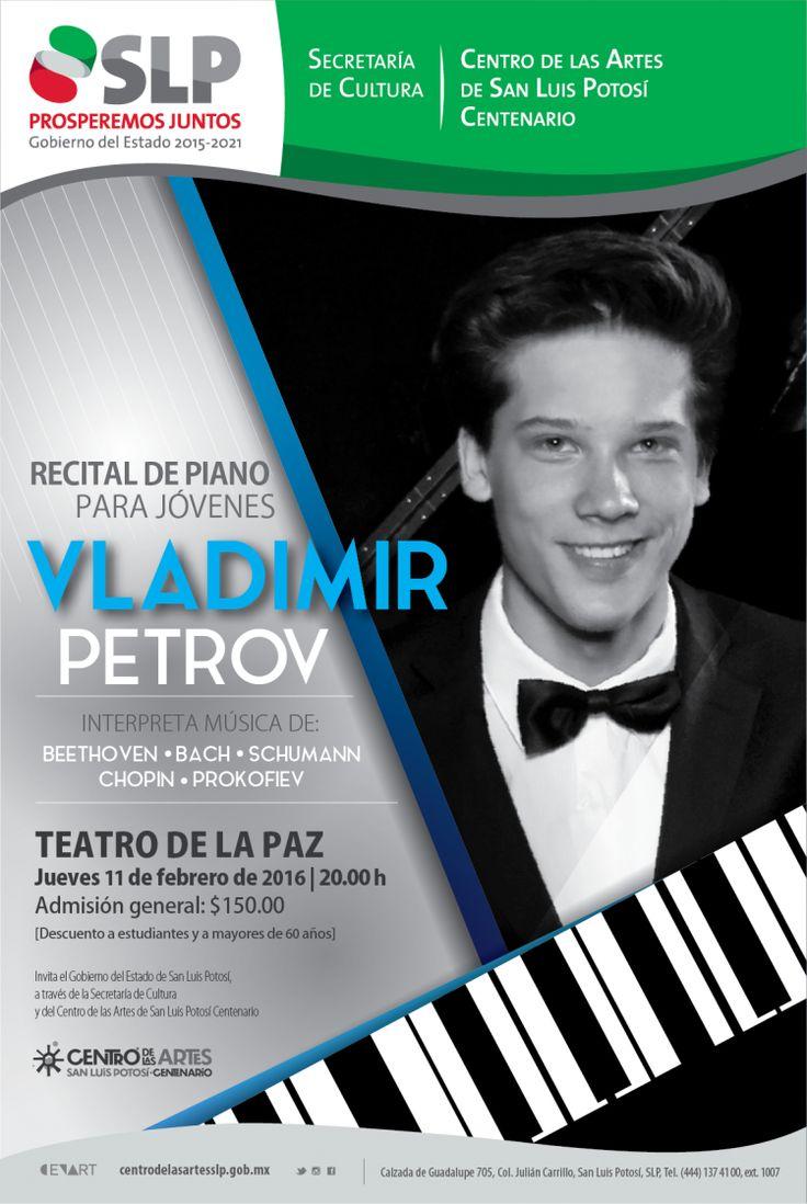 Vladimir Petrov ofrecerá Recital de Piano para Jóvenes - Agenda San Luis Potosí