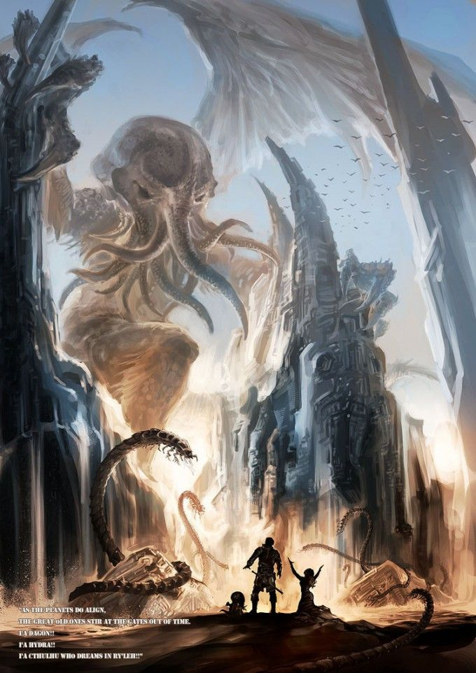 Cthulhu | Art by ~SharksDen on deviantART http://sharksden.deviantart.com/