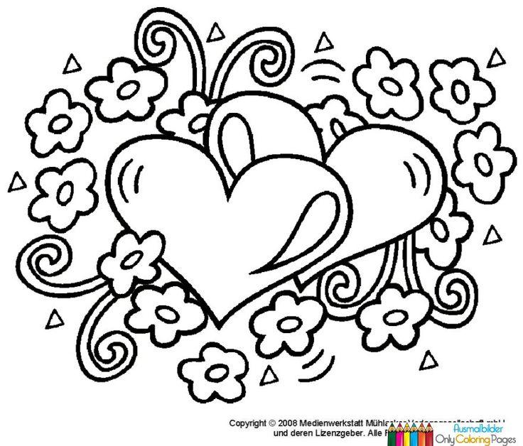 ausmalbilder bilder with images  printable valentines