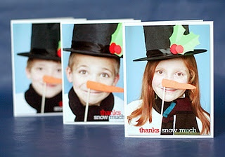 Thanks Snow Much - cute idea for Christmas thank yous