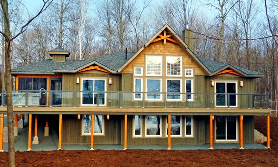 The mystic point is an exciting new linwood home package for Maine post and beam kits