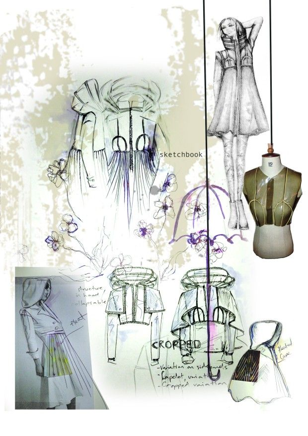 Fashion Sketchbook - fashion design drawings & development // emma-jane lord