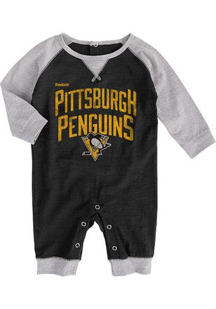 Pitt Penguins Baby Black Proud Fan Creeper
