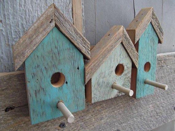 small BIRDhouse rack by HappyAcresARTWORKS on Etsy