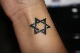 Jewish tattoo Star of David