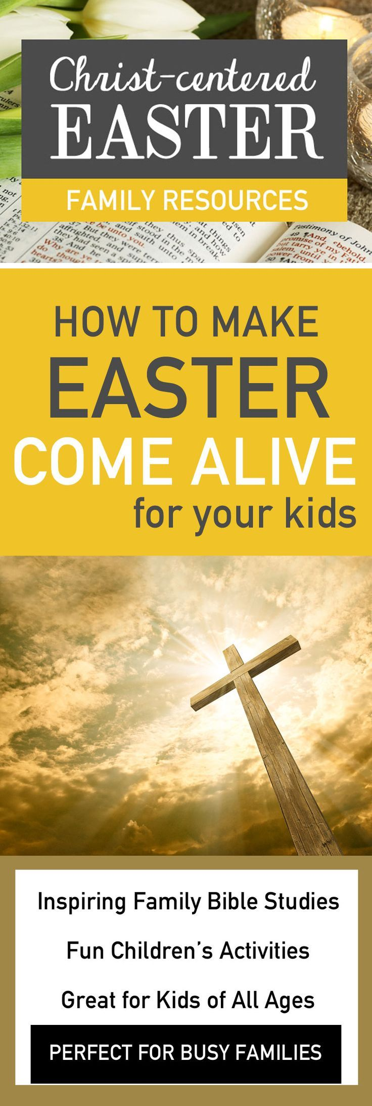 YES! I love that there is NO Easter Bunny here! I mean, he's cute, but isn't Easter about Jesus? That's what I want my kids to know about...
