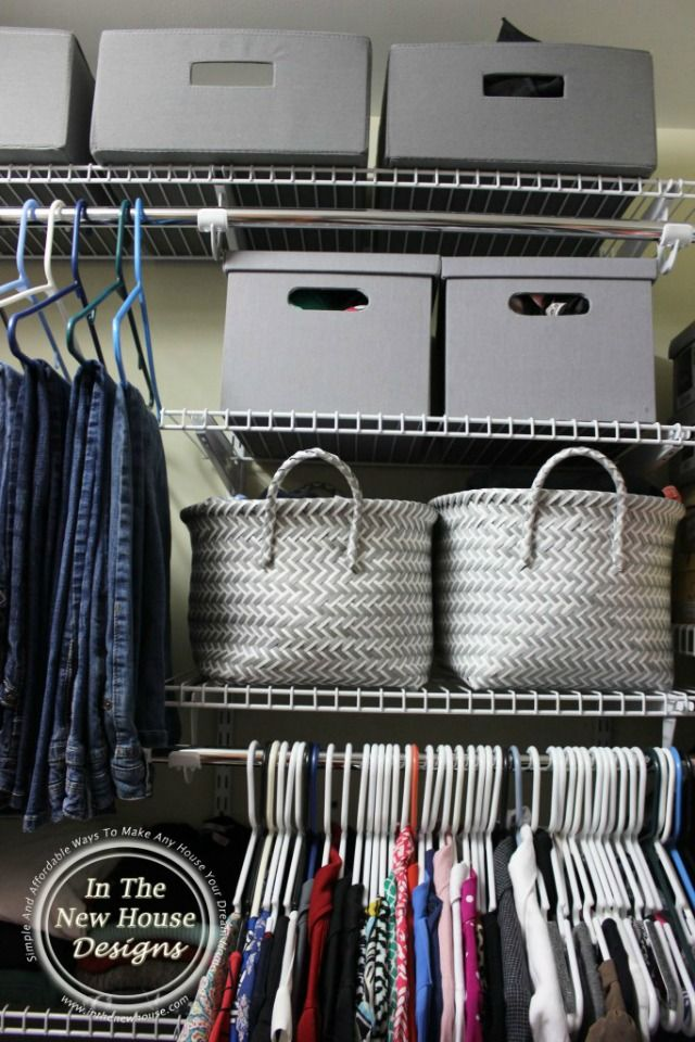 Organize Your Small Closet For Under $100
