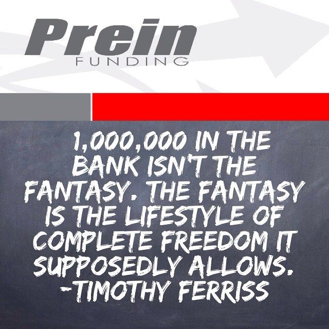 "$1000000 in the bank isn't the fantasy. The fantasy is the lifestyle of complete freedom it supposedly allows.  Timothy Ferriss ""The Four Hour Work Week""  #TGIF #Happy #Friday #TimothyFerriss #Quote #The4HourWorkWeek #QuoteOfTheDay #PhotoOfTheDay #PicOfTheDay #Instagood #InstaDaily #InstaMood #Americana #TheCoffeeBean #LosAngeles #LA #California #CA  #Motivation #Inspiration #Success  #BuildingAnEmpire #Millionaire #Lifestyle #Dream #Big #Winning #AllergicToAverage #BeastMode"