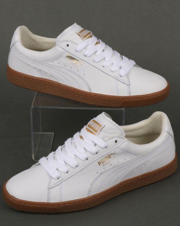 buy online a0b92 02656 Puma Basket Classic Gum Deluxe Sneakers