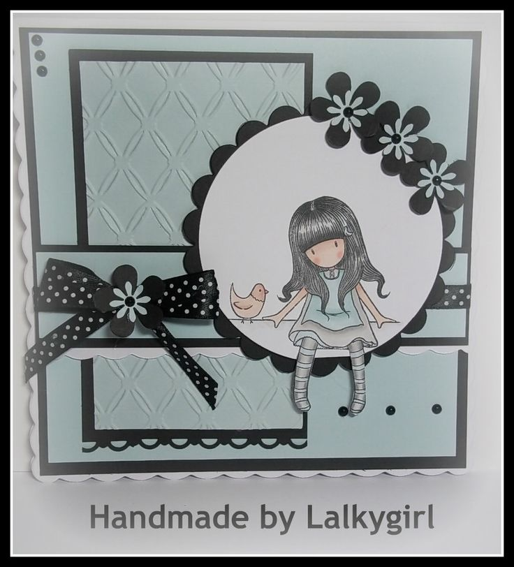 a gorjuss girl card