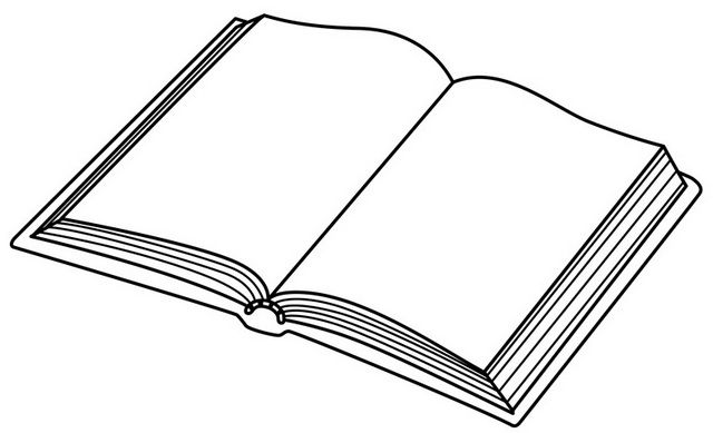 Opening Book Coloring Page Coloring Books Coloring Pages Color