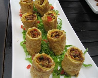 Crispy Spring Roll with lamb filling @ Xibo Xinjiang Restaurant ...