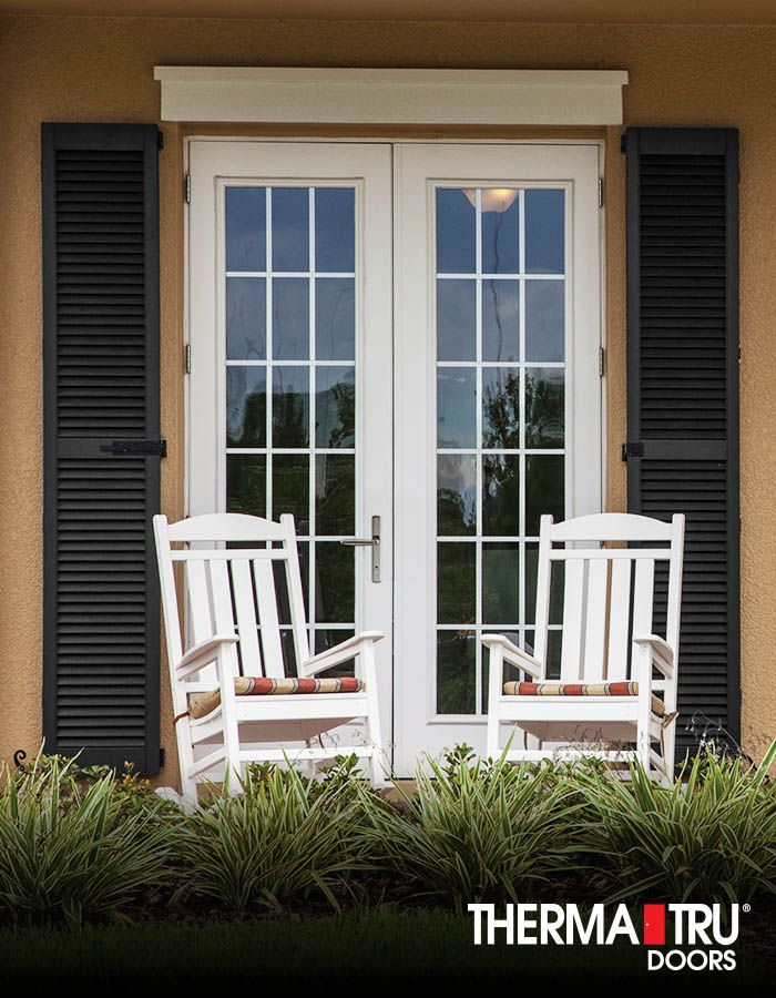 thermatru smoothstar fiberglass doors with grilles between glass