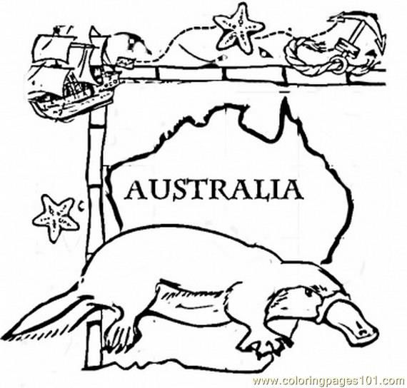 australia day colouring pages | free printable coloring page Australia animal (Countries > Australia)