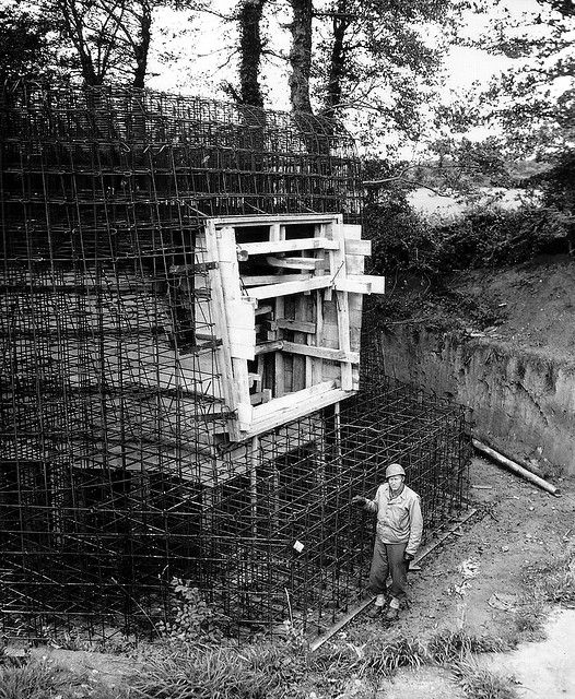 German Bunker Construction Interrupted By