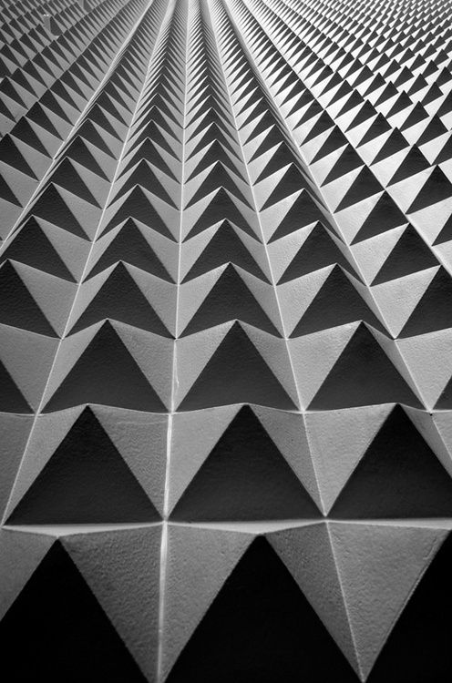 Geometric Print - Black and White Geometric Architecture   #Inspirational #geometry for #C2MTL 2014