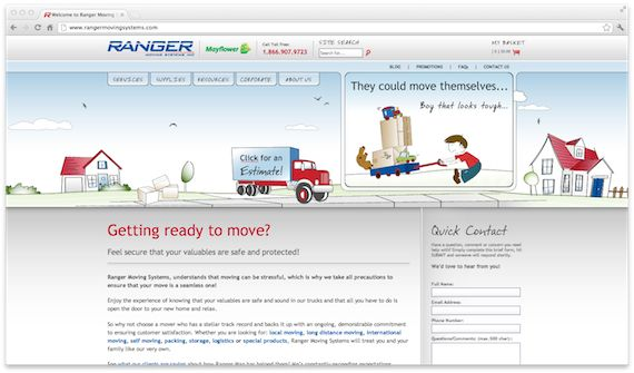 U2R1 created a stress free and trustworthy website for Ranger Moving Systems to make them stand out as a moving company that understands how hectic the moving process is.