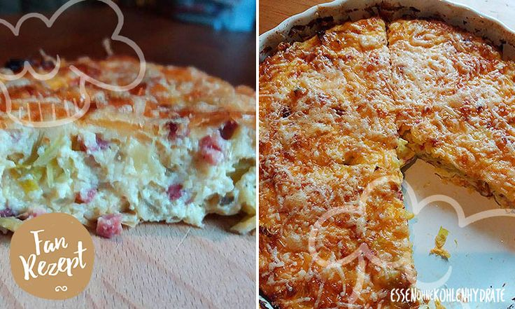 Low-Carb Lauch-Zwiebel-Speck-Quiche
