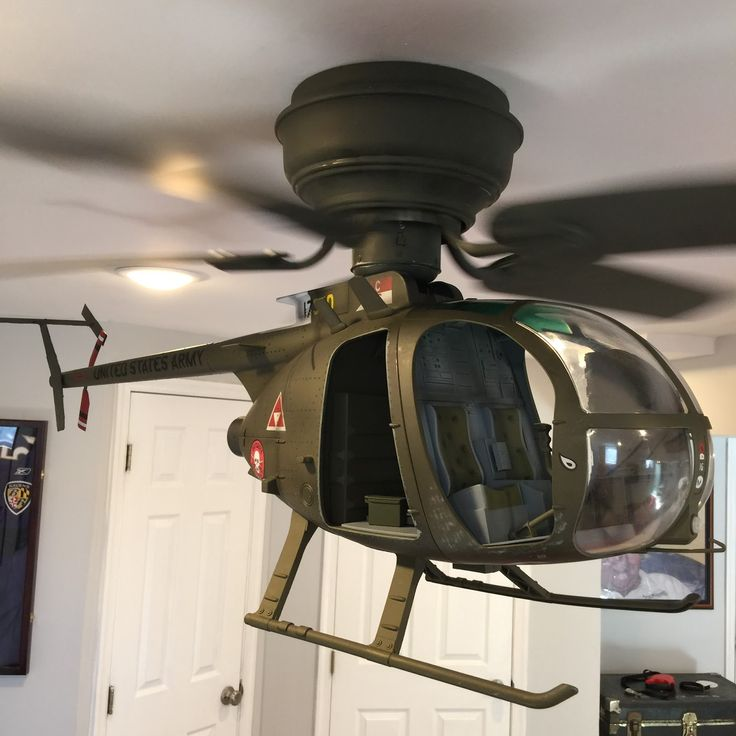 OH-6 Helicopter Ceiling Fan – Inspire the Uninspir…