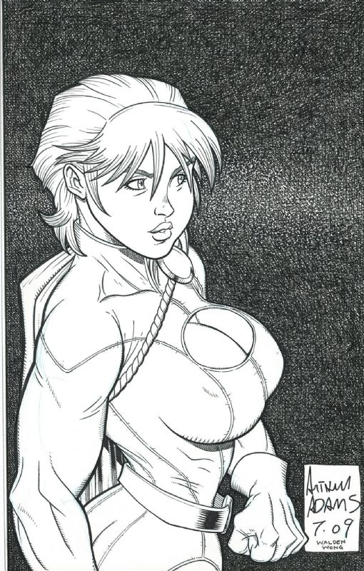 Powergirl - Art Adams & Walden Wong Comic Art