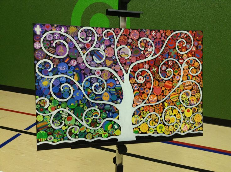Our class art project. For the schools silent auction. To raise money for schools in other country's. Sold for 505 dollars. The most sold out of the whole school.