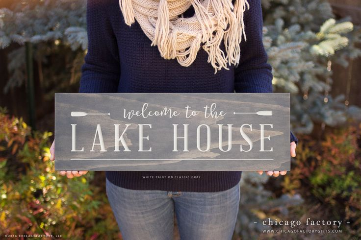 Lake House Sign, Lake House Decor, Lake Sign, Welcome to the Lake Sign, Lakehouse Sign, Lakehouse, Housewarming, Birthday Gift (GP1081) by ChicagoFactoryGifts on Etsy https://www.etsy.com/listing/495879657/lake-house-sign-lake-house-decor-lake