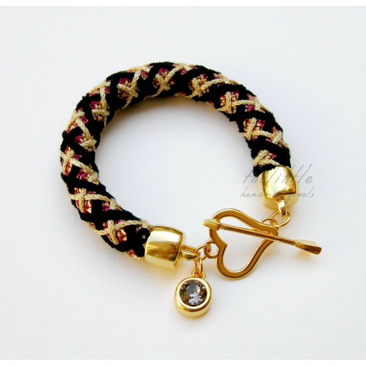Bordeaux Knitted Rope Toolittle Bracelet #rope jewelry