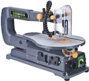The 7 best scroll saws at great prices images on pinterest fret genesis scroll saw product features induction motor for quiet smooth performance quick change blade system includes 2 blades and allen key variable greentooth Image collections