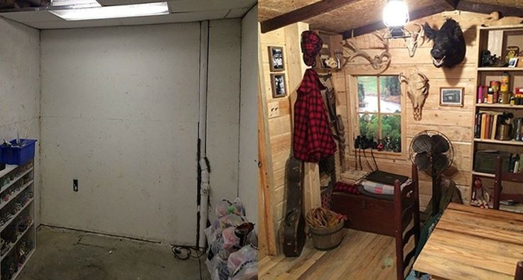 Man Cave Garage Hunting : Your basement could become a hunting cabin for only $107 men