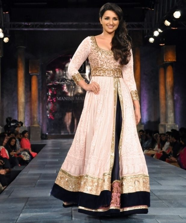 Parineeti Chopra wearing black n white bridal dress designed by Manish Malhotra