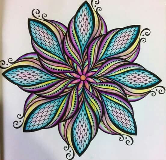 Mandala Coloring Example In 2019 Mandala Coloring