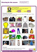 Outstanding Science Year 1 - Seasonal changes   Dressing for the season