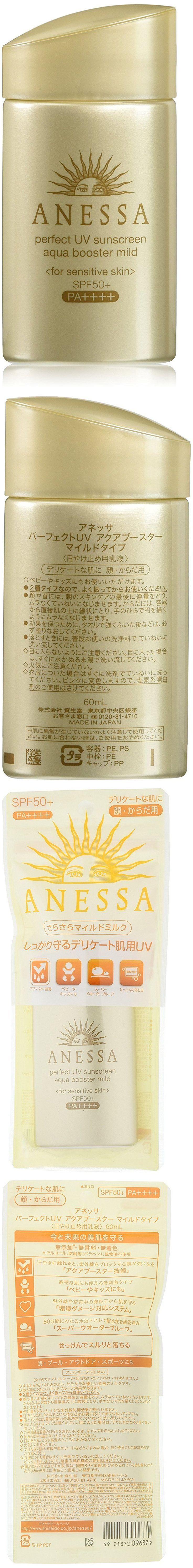 Sunscreen: Shiseido Anessa Perfect Uv Aqua Booster Mild Type 60Ml, Sunscreen Spf50+, -> BUY IT NOW ONLY: $33.98 on eBay!