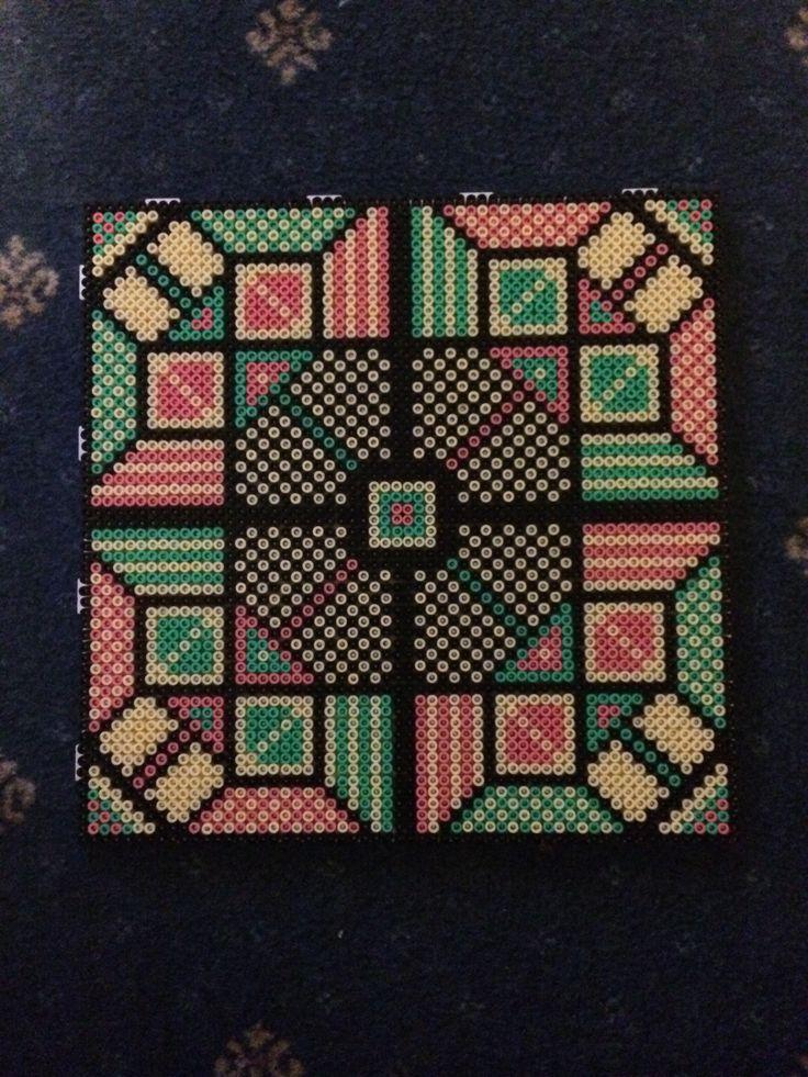 Hama beads large four colour square