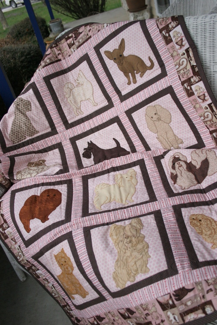 17 Best Images About Dog Quilt On Pinterest Block Of The