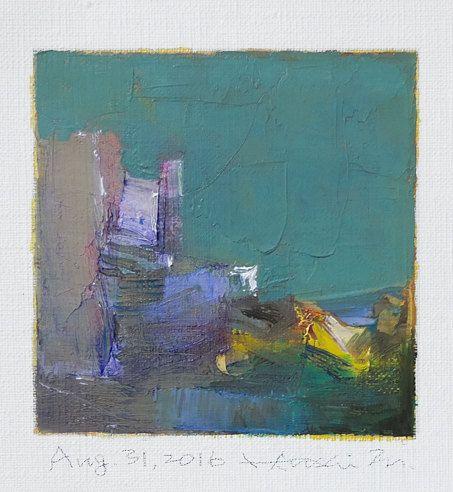 Aug. 31 2016  Original Abstract Oil Painting  by hiroshimatsumoto