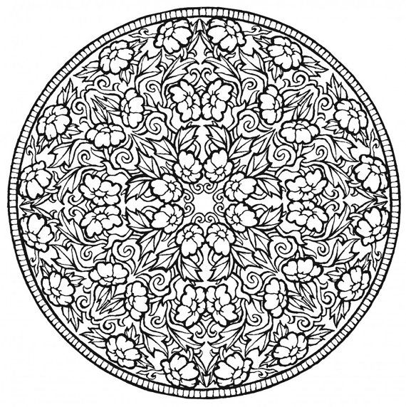 Coloring book for adults - 80 MANDALAS The book contains 80 beautiful mandalas for coloring. PDF/A4  You can print and paint as many times.  Because this