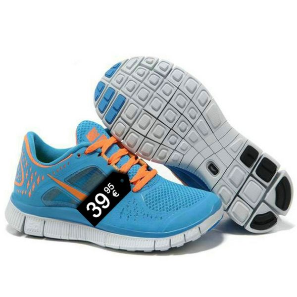buy popular 1af31 c1faf Zapatillas NK Free Run Celeste y Naranja - Modaporencargo.com  ZAPATILLAS  NK FREE RUN  Pinterest