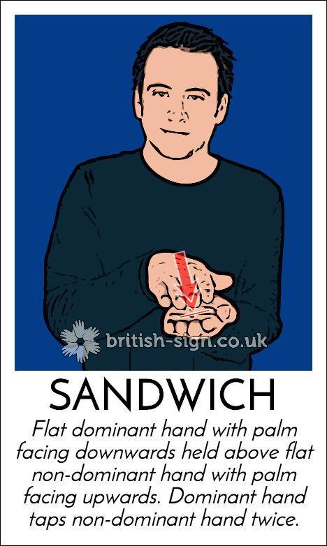 Today's #BritishSignLanguage sign is: SANDWICH #SandwichDay