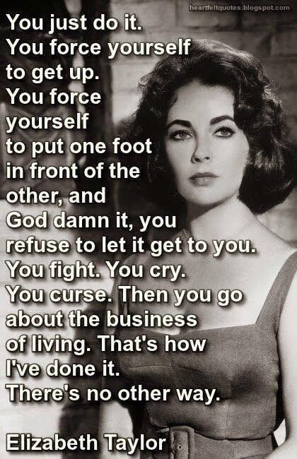 Wisdom from a tough lady. :) Life isn't easy or simple. No matter how much you pretend it is. People come up with many excuses to not do the work. Unfortunately, more people ever day have real reasons not to move forward. *Society* today get's in the way of real progress. The World is stuck in reverse.