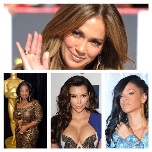"J.Lo, Oprah, Rihanna, Kim Kardashian & Lady Gaga Top 2012 Forbes ""Celebrity 100″ List!"